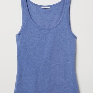 New with tags H&M blue knit jersey scoop tank top